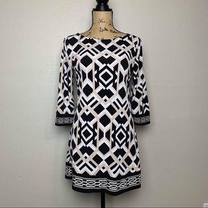 WHBM rhombus geometric print tunic like new Size S